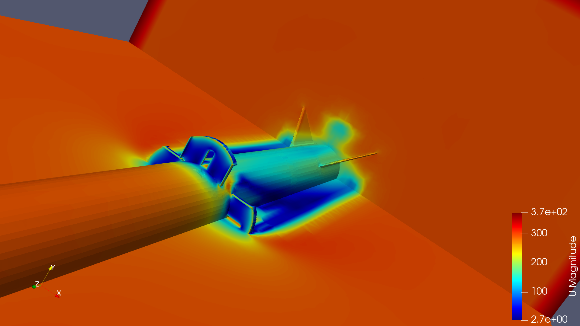 EULER full-body CFD: fin interaction
